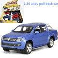 1:30 сплав вытяните назад автомобиль, высокая моделирования Пикап AMAROK, металл diecasts, toy транспорт, музыкальные и мигающий, бесплатная доставка