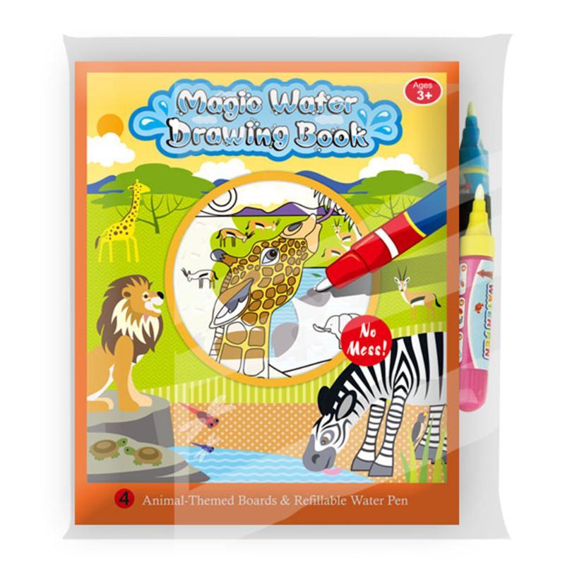 Barn Dyr Maleri Magic Vann Tegning Bok med 2 Vann Pen Barn Doodle - Læring og utdanning - Bilde 6