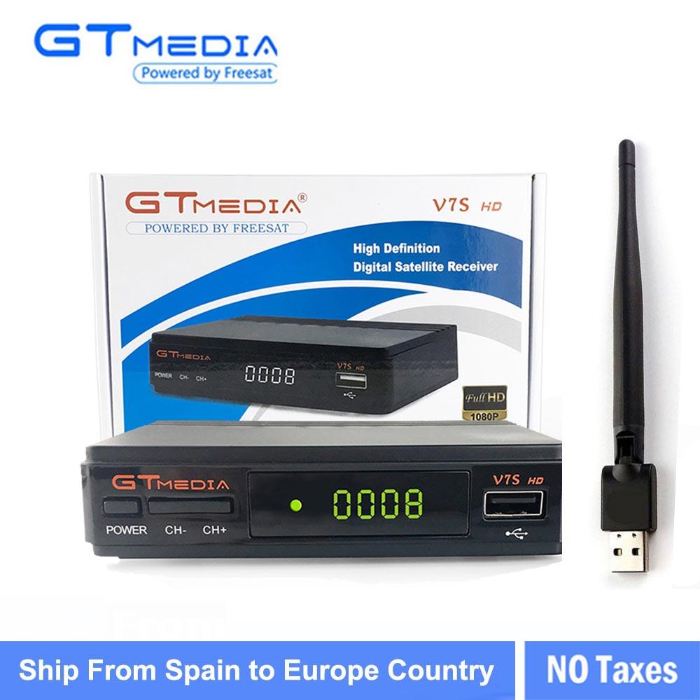 3/5/10 stücke GTMEDIA V7S HD + WIFI Antenne DVB-S2 HD Youtube PowerVU CLINES Newcamd 10 stücke GTMEDIA V7S satellite erhalten