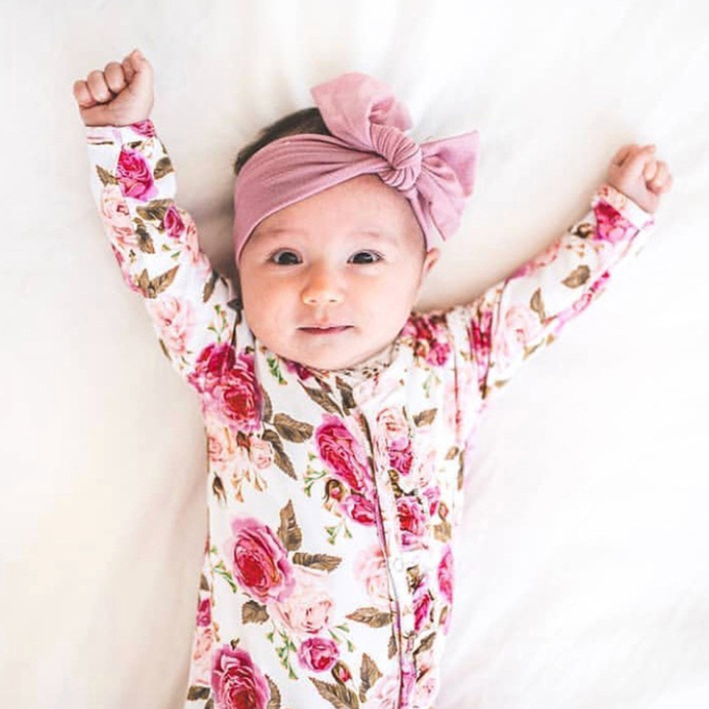MUQGEW 2018 Hot Sale Infant Baby Girls&Boys Long Sleeve Floral Printing Romper Jumpsuit Clothes  Dropshipping Baby Clothes(China)