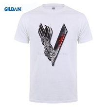 GILDAN 2017 fashion hot sell  O-Neck T Shirt Printed tee shirt designMen's Canadian Irish Drama Series Vikings T Shirts