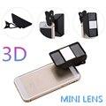 3D Mini Fotografía Visión Estéreo Teléfono Móvil Lente de la Cámara Para doogee x6 x5 max elephone s7 gooweel nexus 5 gionee m6 smartphone