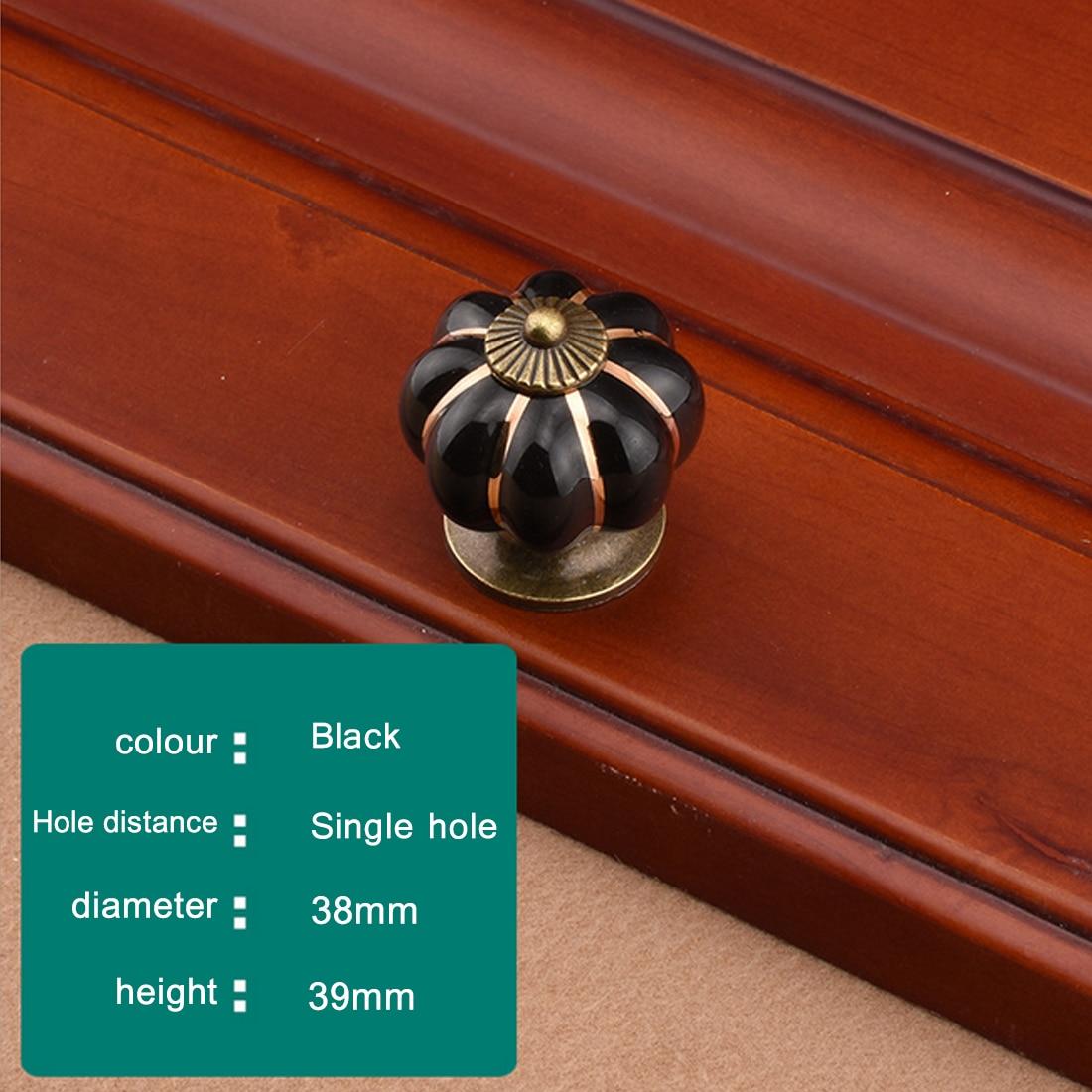 1 unids tirador vintage calabaza cerámica puerta perillas gabinete ...
