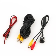 Drilling 18.5mm Auto Parking Reverse 8 LED Night Vision Waterproof Mini 170 Degrees Wide Angle Car Rear View Camera