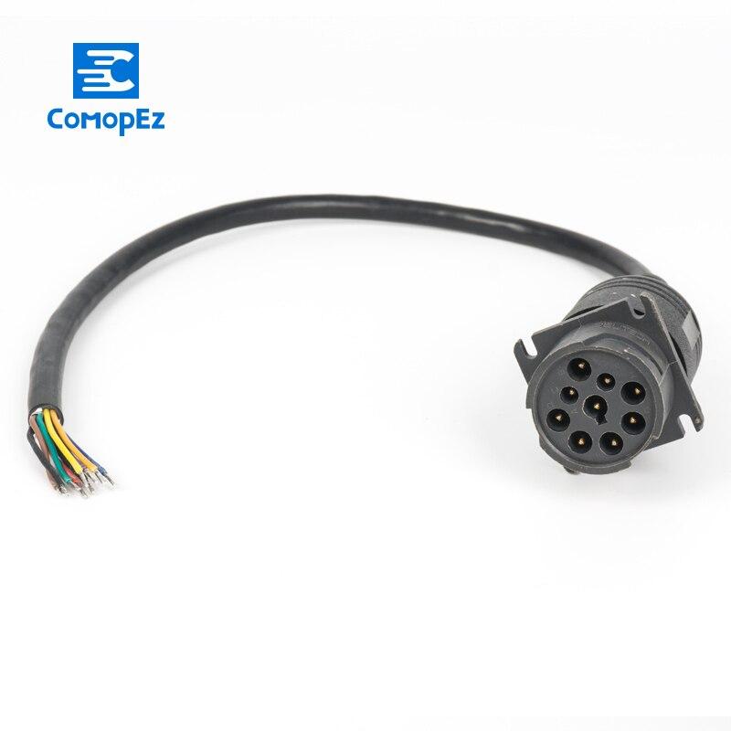 Deutsch j1939 9pin para abrir a extremidade 6ft para o cabo de dobra gereedschap autogarage conector cabo para a garagem do carro ferramenta