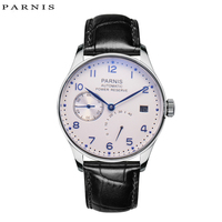 Parnis 43mm Mechanical Watches Men 2018 Calendar Waterproof Automatic Self Wind Watch Black Silver