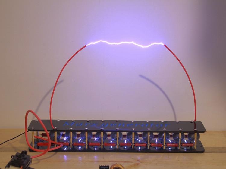 Panneau assemblé fini 10 grades Marx/tension d'impulsion/impulsion générateur haute tension générateur Marx bobine Tesla