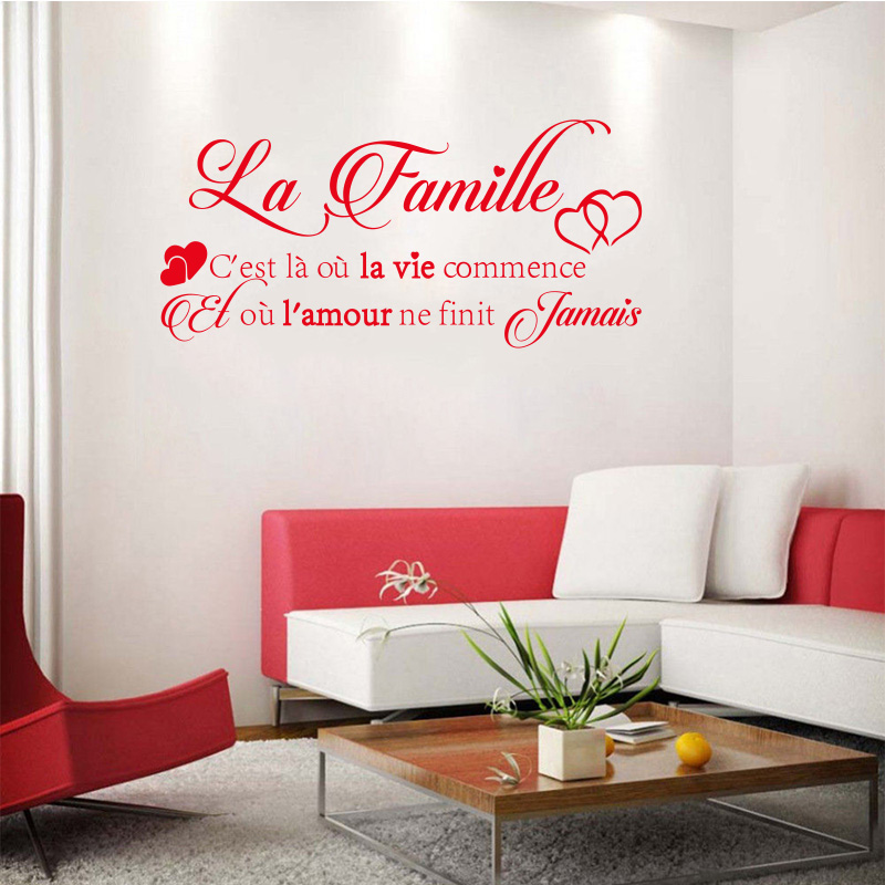 Vinyl αυτοκόλλητα τοίχου La-Famille - Διακόσμηση σπιτιού - Φωτογραφία 5