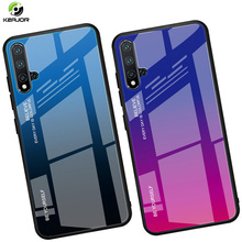 Tempered Glass Case For Huawei Nova 5 Pro Luxury Gradient Hard Cover Soft Edge Full Protection Funda