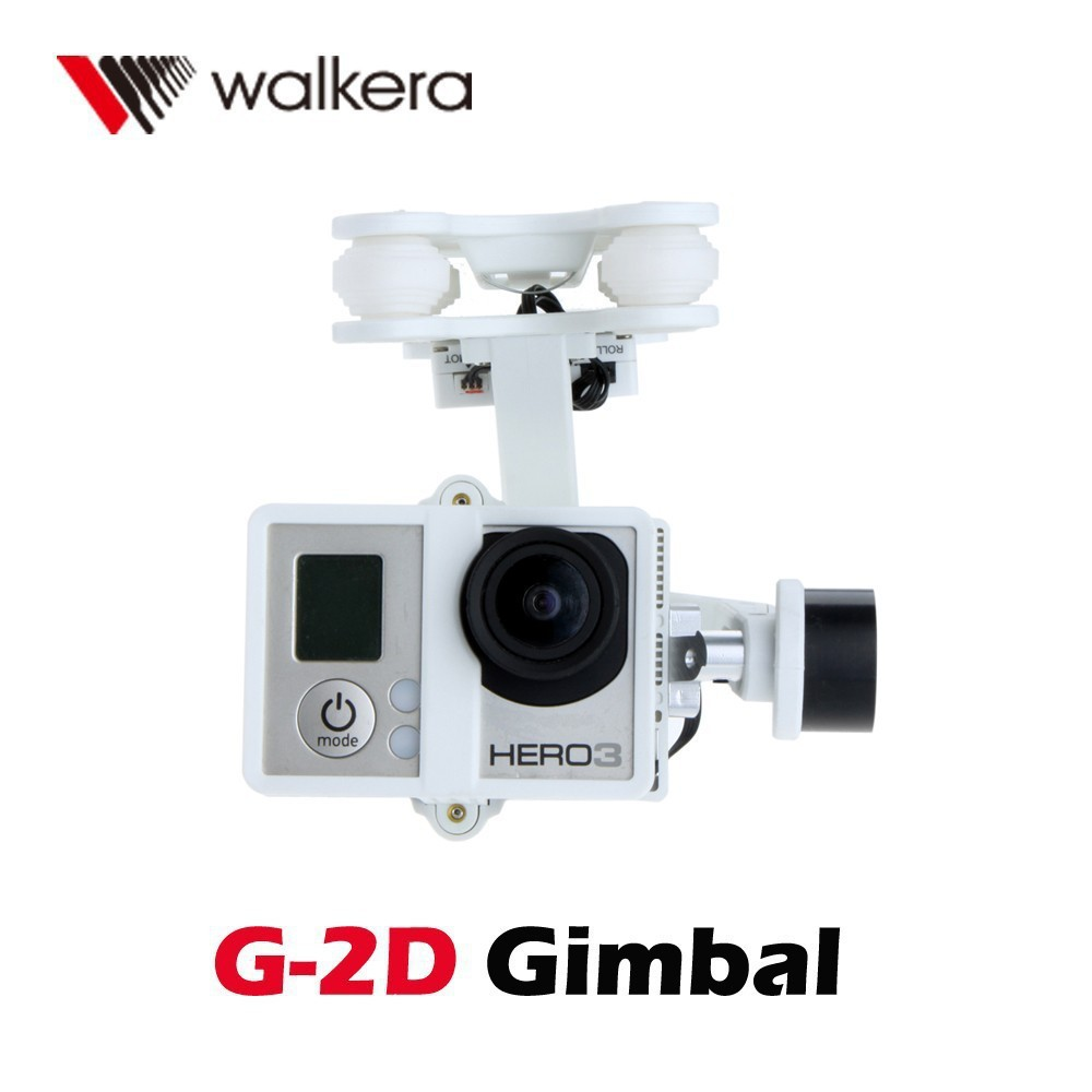 F10151 For Walkera G-2D White Plastic Brushless Gimbal for GoPro Hero 3 iLook Camera on Walkera QR X350 Pro FPV Quadcopter walkera g 2d camera gimbal for ilook ilook gopro 3 plastic version