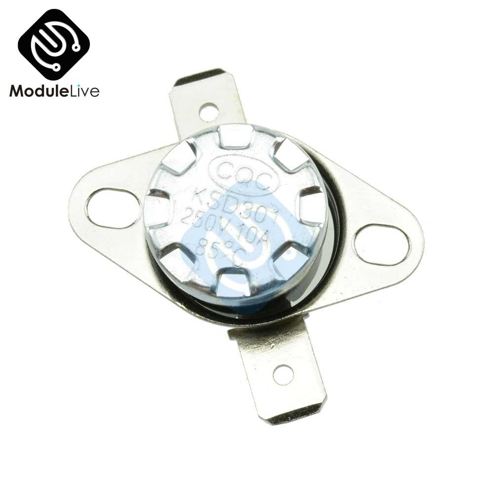 85 * C KSD301 250 V 10A нормальный закрытый NC терморегулируемый выключатель Термостат