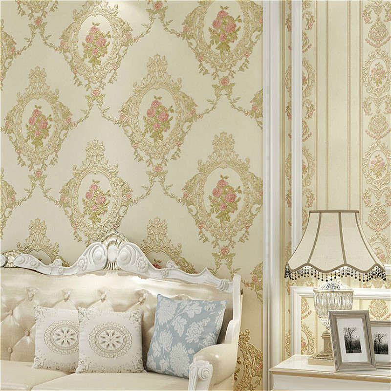 Victorian vintage green floral wallpaper mirror pattern non woven retro wall paper wall coverings in wallpapers from home improvement on aliexpress com