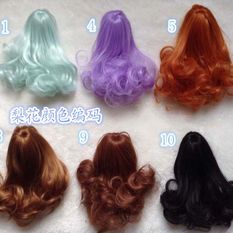 New Arrival Dolls Accessories Handmade Synthetic Hair Kurhn Doll Wigs Wavy 1/12 Wig BJD