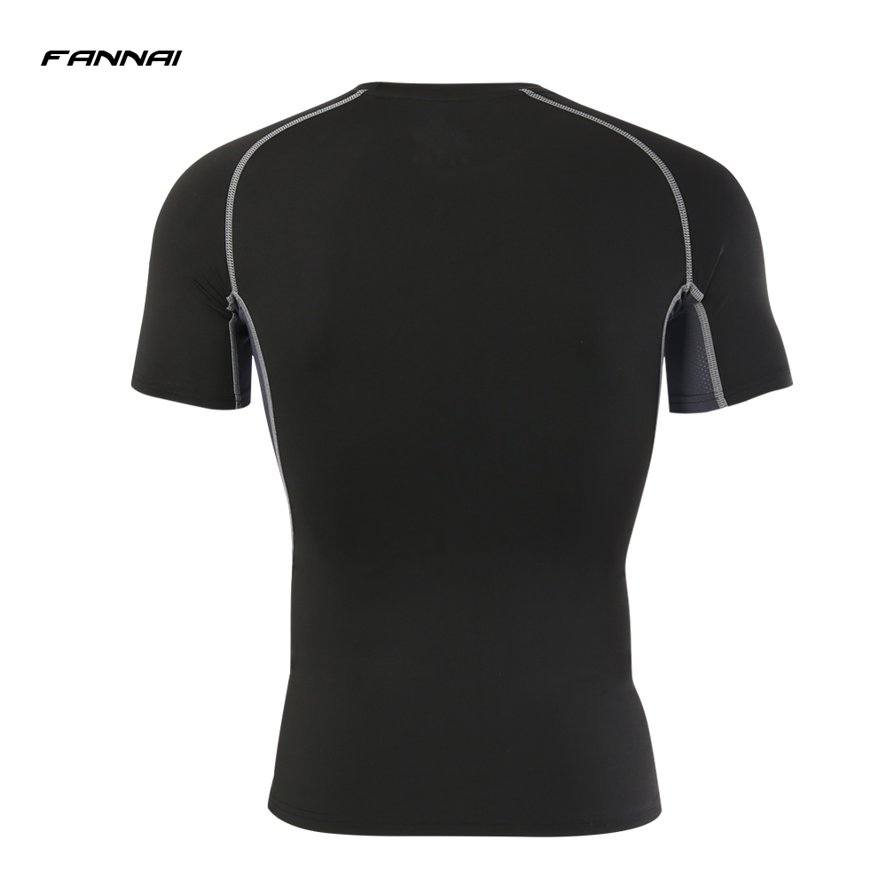 Men 39 s Compression Running Shirt Short Sleeve T Shirts Quick dry Breathable Tight Tops Tee Bastetball Top 2019 New in Running T Shirts from Sports amp Entertainment