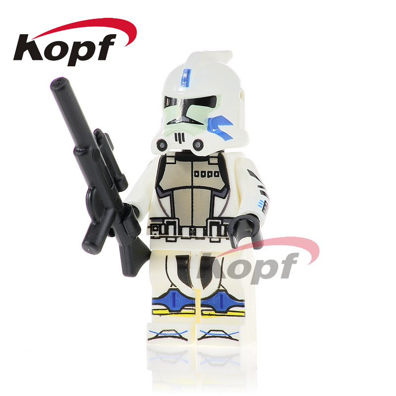 PG755 Star Wars White Clone Soldiers Stormtrooper Wolf Pack Clone Trooper Bricks Building Blocks Education Toys Gift Children