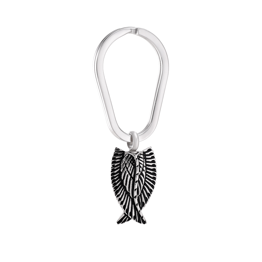 IJK2050 Stainless Steel Wing Cremation Keepsake Keyring for Ashes  Urn Memorial Souvenir Jewelry