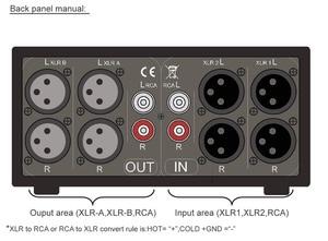 Image 5 - Nobsound 3 ב 3 החוצה XLR מאוזן/RCA סטריאו ממיר אודיו בורר תיבת פסיבי Preamp עבור בית מגבר
