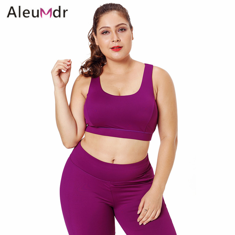 Aleumdr Sports Wear For Women Gym Sleeveless Black Plus Size Racerback U-shaped Neck Yoga Top Fitness LC26040 Reggiseno Sportivo