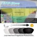 1.61 Lentes Fotocromáticas Multifocal Progressiva de Forma Livre Cinza Óculos De Lente Para Óculos de grau