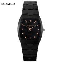 Men Quartz Watch Black Steel Wristwatches Casual Dress Business Watches Male BOAMIGO Luxury Brand Waterproof Relogio