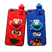 Cute Cartoon Doll Elmo Phone Case For iphone X XS MAX XR Soft Silicone lovers Cases For coque iphone 6 6S 7 8 Plus Couple Cover