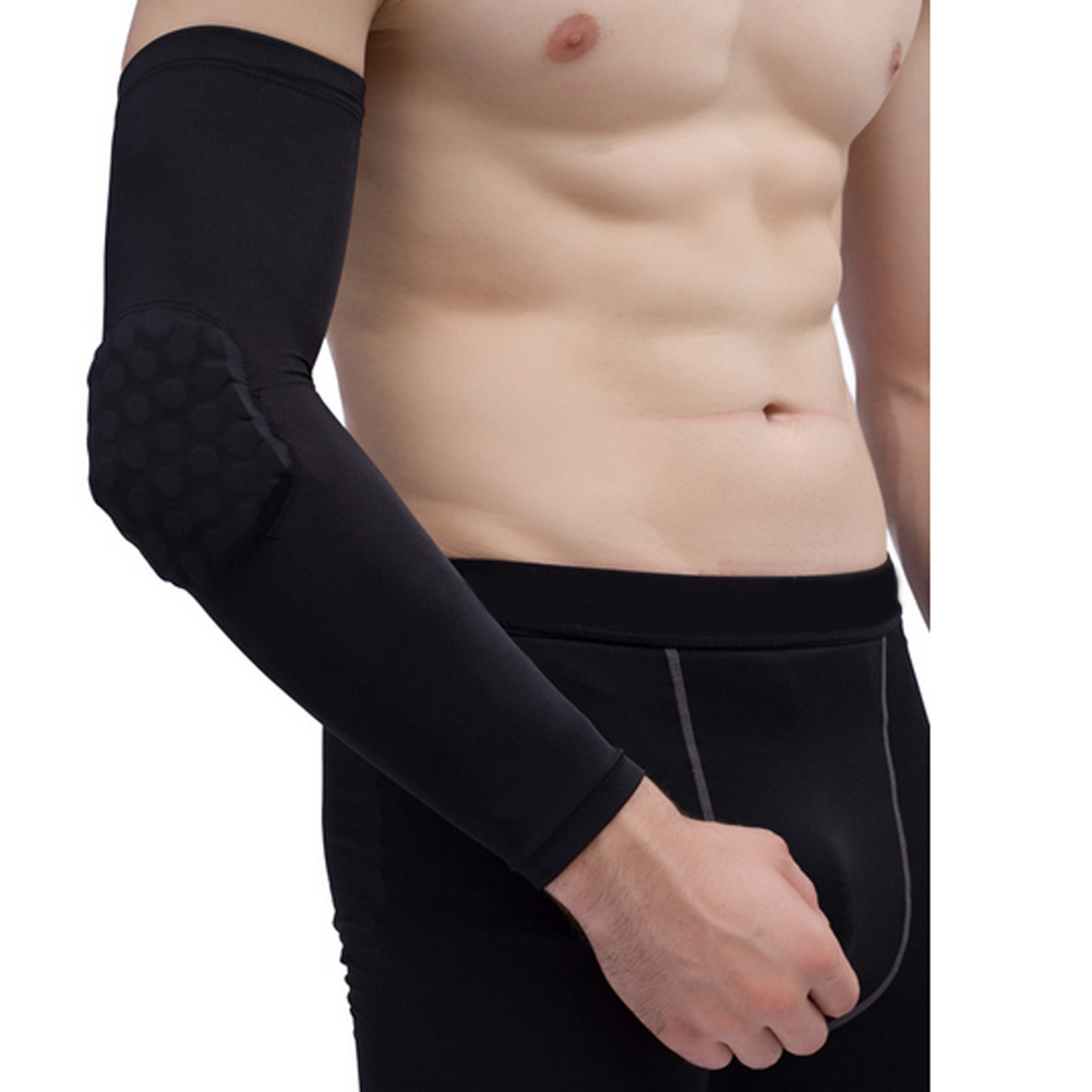 Honeycomb Pad Crashproof Antislip Basketball Arm Hand Long Sleeve Protector Gear Men's Accessories
