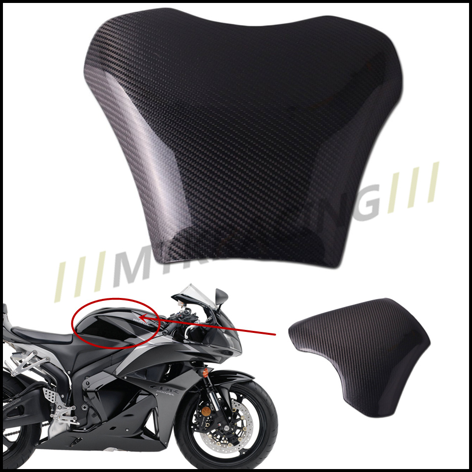 Free shipping Carbon Fiber Fuel Gas Tank Protector Pad Shield For Honda CBR600RR 2003-2006 2003 2004 2005 2006 black color motorcycle accessories carbon fiber fuel gas tank protector pad shield rear carbon fiber for kawasaki z1000 03 06