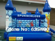 PVC5x4x3.5m tarpaulin inflatable bouncers with slide for kids and baby