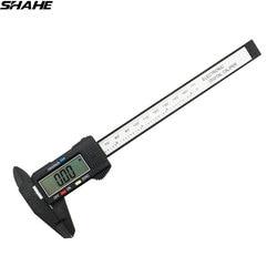 SHAHE 150 mm 6 inch LCD Digital Electronic Carbon Fiber Composite Vernier Calipers Micrometer Ruler Digital Calipers
