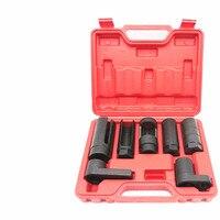 High quality 7pcs oxygen sensing sleeve set sensor containing socket impact 3/8 1/2 allen key adapter trough of belt