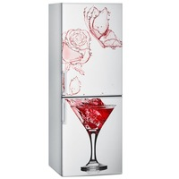 Creative Fridge PVC Rose and Wine Refrigerator Stickers DIY Waterproof Refrigerator Stickers Fashion Fridge Magnet Home Decor