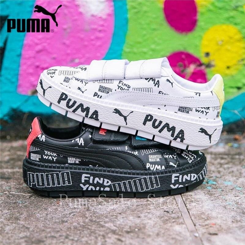 san francisco 69f06 0bdf3 PUMA x SHANTELL MARTIN Platform Trace Strap Women Sneaker 366533-01/02  smClyde Runs Wn's Badminton Shoes Size 36-39