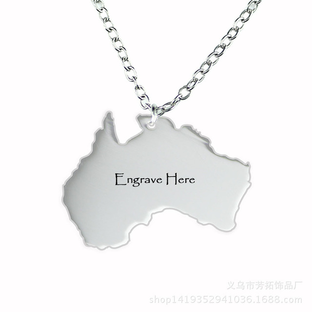 Free engraving personalized diy name australia map pendants free engraving personalized diy name australia map pendants stainless steel custom necklaces pendants accessorise jewelry aloadofball Image collections