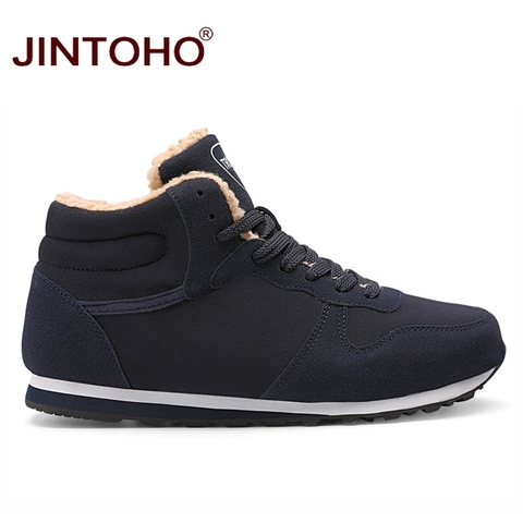 JINTOHO Big Size Unisex Winter Snow Shoes Brand Men Winter Boots Warm Snow Boots For Men Fashion Casual Male Shoes Ankle Boots Lahore