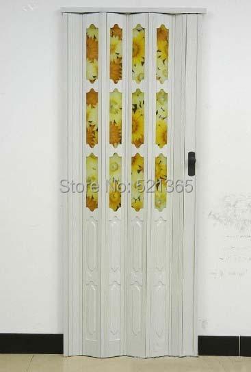 1pcs l10003ps pvc folding door casual door plastic door accordion doors h205cm