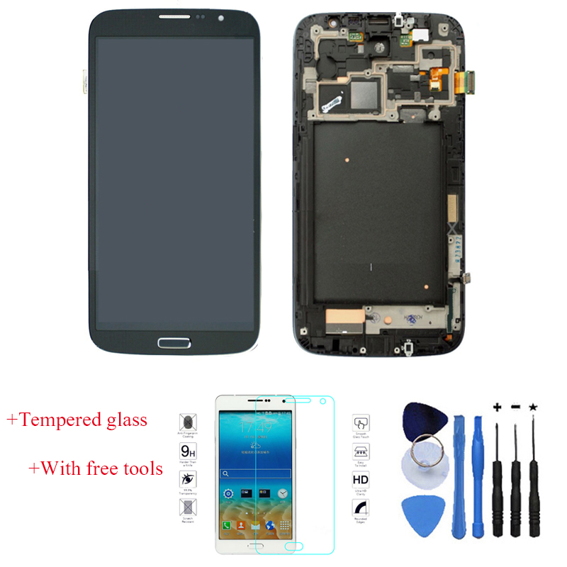 OEM 100% Test LCD Dispaly Touch Digitizer Screen + Frame Replacement For Samsung Galaxy Mega 6.3 i9200 i9205 Black + Free Tools