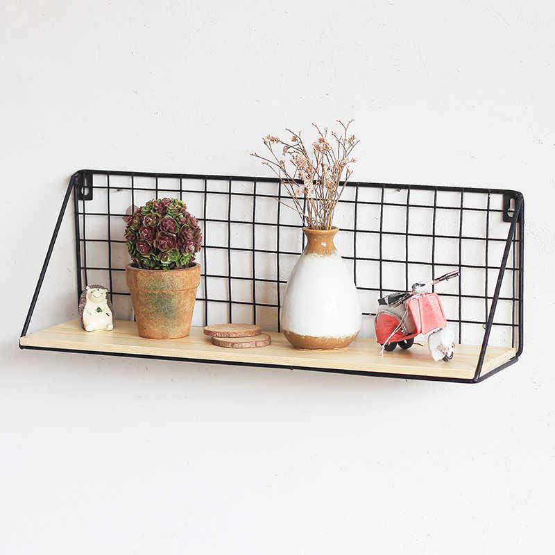 Multifuncional Ferro titular vaso de flores de parede pendurado rack de armazenamento cesta de armazenamento prateleira de parede decoração da sua casa