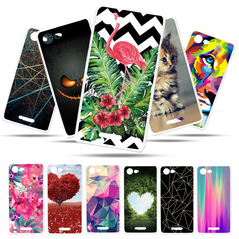 Bolomboy Painted Case For <font><b>Sony</b></font> <font><b>Xperia</b></font> E2 <font><b>E3</b></font> Case Silicone Soft TPU Cases For <font><b>Sony</b></font> <font><b>E3</b></font> D2203 Cover Wildflowers Cute Animal Bags image