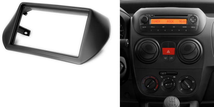2 Din Ραδιόφωνο Fascia για Citroen Nemo Peugeot Bipper - Ανταλλακτικά αυτοκινήτων - Φωτογραφία 2