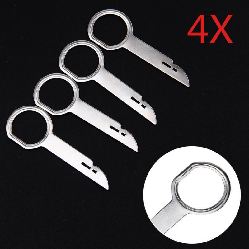 4PCS Useful Practical Radio Stereo Release Removal Install Tool Key Installation For Ford Focus Transit C-Max Mondeo