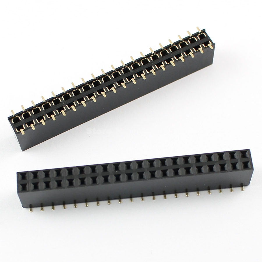 Connectors Lighting Accessories 50 Pcs Per Lot 2.54mm Pitch 2x6 Pin 12 Pin Female Smt Double Row Pin Header Strip
