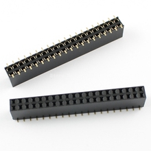 50 Pcs Per Lot Pitch 2.54mm 2x20 Pin 40 Pin Female Double Row SMT Pin Header Strip