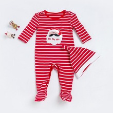 Christmas Baby Rompers Santa Newborn Body Suits X'mas Babywears Baby Overall Baby Clothes Infant Newborn Cute Palysuit 0-24M