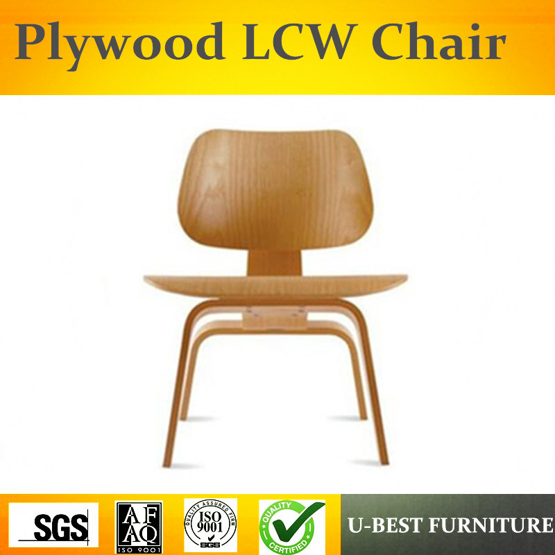 Free Shipping U-BEST American Design LCW Plywood Lounge Chair With Walnut Veneer, Heigh 70cm Home Furniture Coffee Table