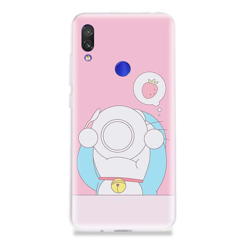 Doraemon A Blue Unique Silicone Phone Case For Xiaomi Redmi 6A 7 4 4A 4X 5 5A 6 Pro Soft Art Patterned Customized Cover Cases in Half wrapped Cases from Cellphones Telecommunications