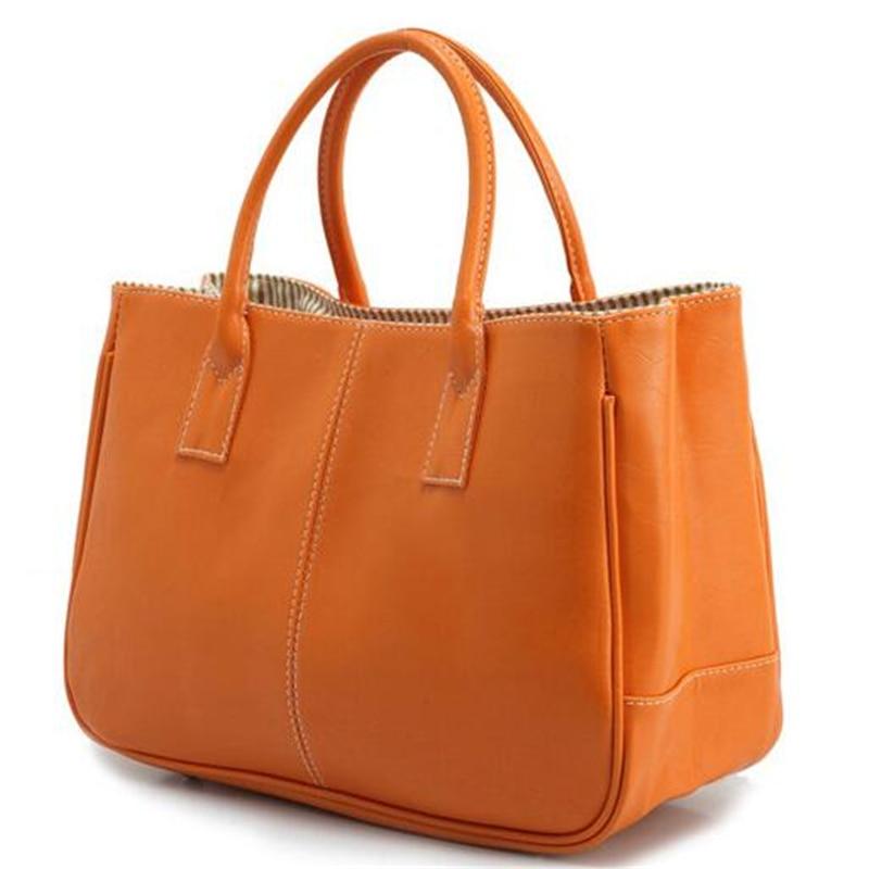 Nye casual håndtasker kvinder læder taske 10 farver kvindelige - Håndtasker - Foto 4