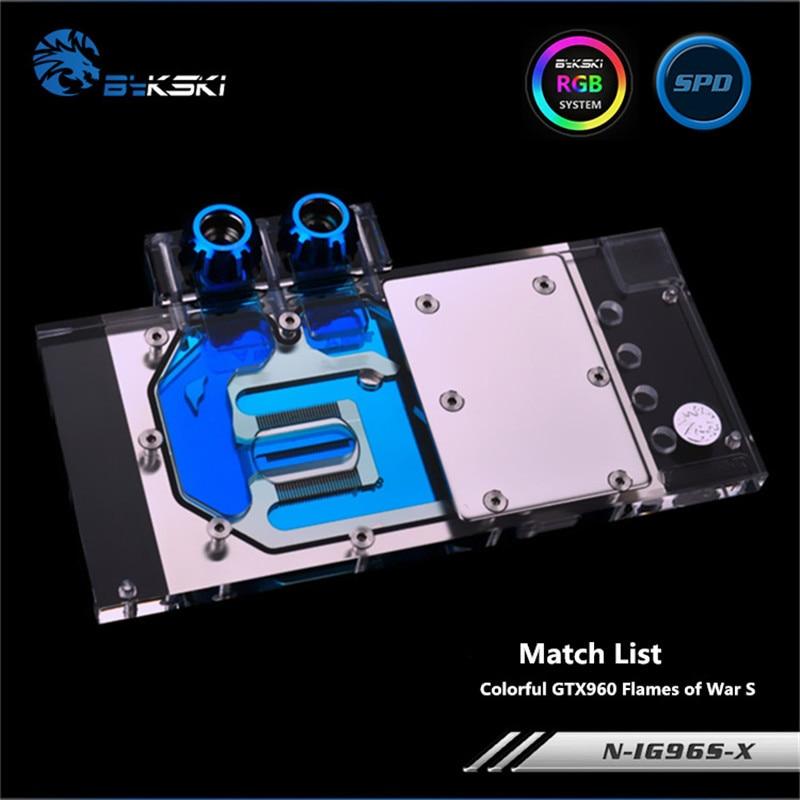 Bykski Full Coverage GPU Water Block For VGA Colorful GTX960 Flames of War S Graphics Card N-IG96S-XBykski Full Coverage GPU Water Block For VGA Colorful GTX960 Flames of War S Graphics Card N-IG96S-X