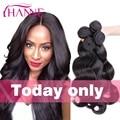 Malaysian Body Wave 4pcs 7A Virgin Malaysian Hair Bundles Body Wave 100% Human Hair Extensions No Blend Hanne Queen Hair Weave
