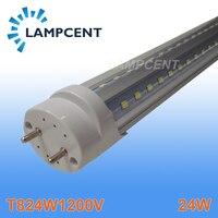Free Shipping V Shaped T8 LED Tube Bulb Light 4ft 24W 1 2M G13 Work With