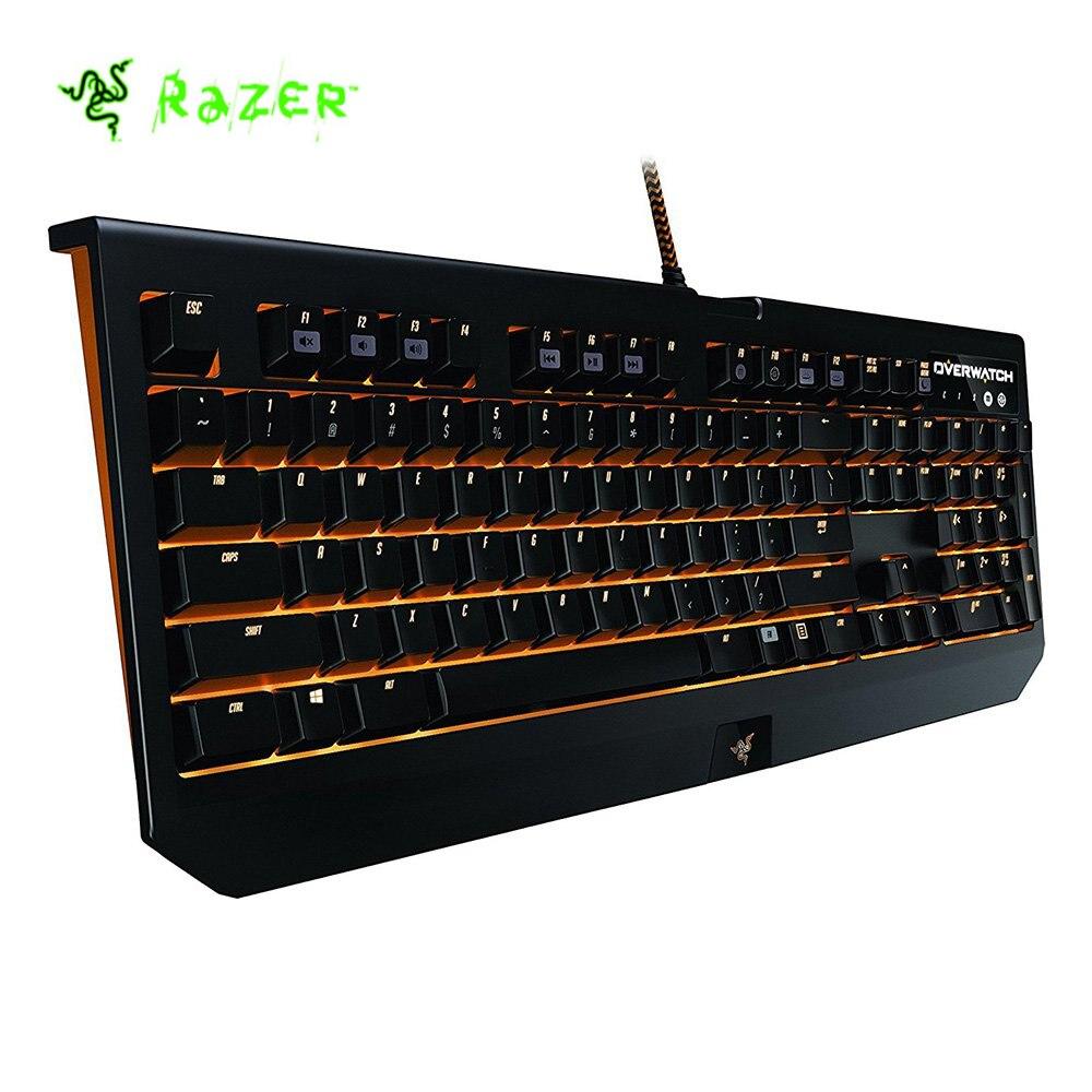 Razer Overwatch blackveuve Chroma clavier de jeu mécanique commutateur vert 104 touches rvb rétro-éclairé entièrement Programmable Razer